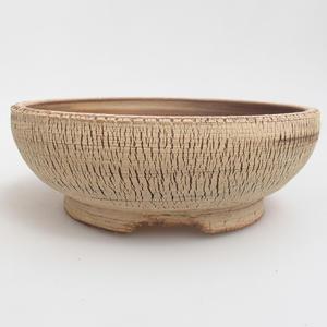 Ceramiczna miska bonsai 18,5 x 18,5 x 6,5 cm, kolor brązowy