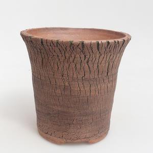 Ceramiczna miska bonsai 14 x 14 x 14 cm, kolor brązowo-zielony