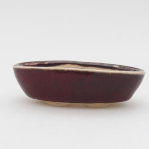 Mini miska bonsai 7 x 3,5 x 2 cm, kolor czerwony