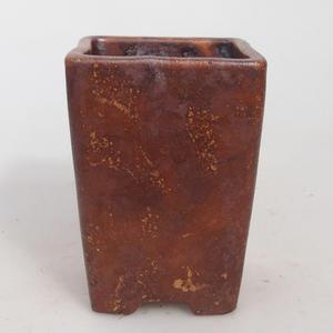 Ceramiczna miska bonsai 7,5 x 10,5 cm, kolor brązowy - 2. jakość