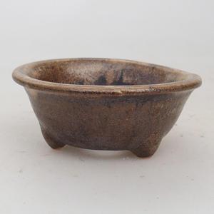 Ceramiczna miska bonsai 7,5 x 3 cm, kolor brązowy - 2. jakość