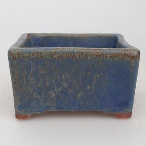 Ceramiczna miska bonsai 8 x 8 x 4,5 cm, kolor brązowo-niebieski - 2. jakość