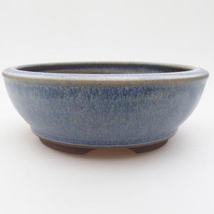 Ceramiczna miska bonsai 16 x 16 x 5,5 cm, kolor niebieski
