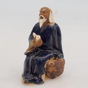 Figurka ceramiczna - szałwia z fajfkou