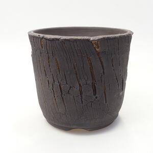 Keramická bonsai miska 14 x 14 x 12,5 cm, barva praskaná