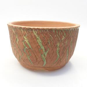 Keramická bonsai miska 14 x 14 x 8,5 cm, barva praskaná