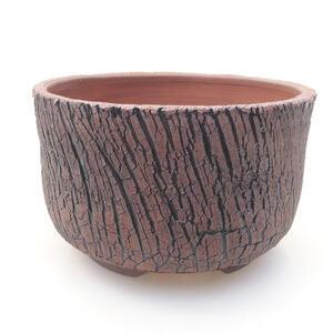 Keramická bonsai miska 13 x 13 x 8 cm, barva praskaná