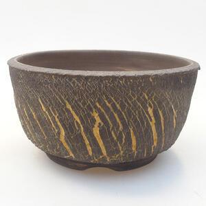 Keramická bonsai miska 15,5 x 15,5 x 8 cm, barva praskaná
