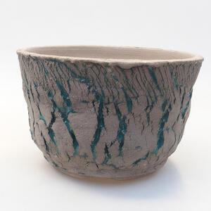 Keramická bonsai miska 16 x 16 x 10 cm, barva praskaná