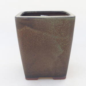 Keramická bonsai miska 13,5 x 13,5 x 15,5 cm, barva hnědomodrá