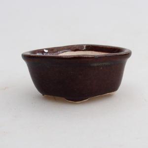 Mini miska bonsai 5 x 4 x 2 cm, kolor brązowy