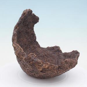 Keramická Skořápka 18 x 17 x 18 cm , barva  hnědá