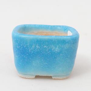 Mini miska bonsai 3,5 x 3,5 x 2,5 cm, kolor niebieski