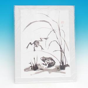 Kaligrafia - Żaby w trawie