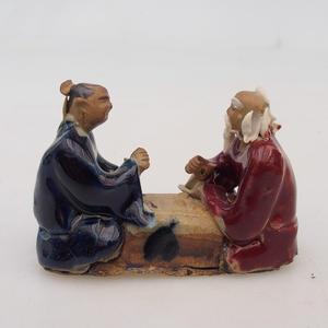 Ceramiczna figurka - dwóch graczy