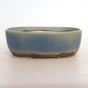 Bonsai miska 26 x 20 x 9 cm, barva modrozelená