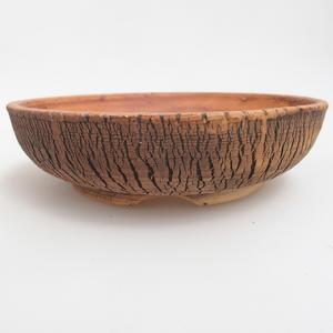 Ceramiczna miska bonsai 19,5 x 19,5 x 5 cm, kolor brązowo-zielony