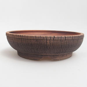 Ceramiczna miska bonsai 23,5 x 23,5 x 6,5 cm, kolor brązowy