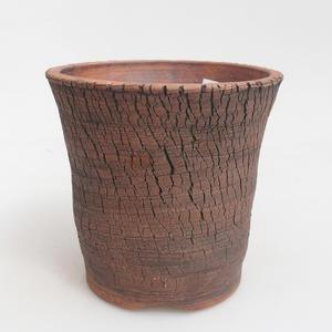 Ceramiczna miska bonsai 13,5 x 13,5 x 13 cm, kolor brązowo-zielony
