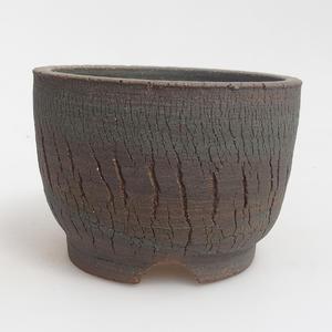 Ceramiczna miska bonsai 12,5 x 12,5 x 9 cm, kolor brązowo-zielony