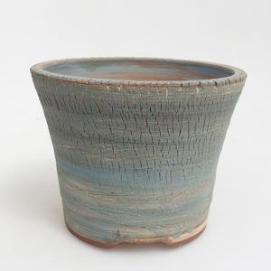 Ceramiczna miska bonsai 14,5 x 14,5 x 11 cm, kolor brązowo-niebieski