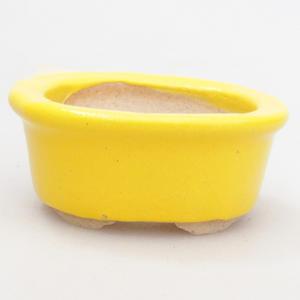 Mini miska bonsai 4,5 x 4 x 2 cm, kolor żółty