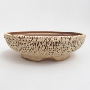 Ceramiczna miska bonsai 18,5 x 18,5 x 5,5 cm, kolor brązowy