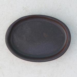 Taca na wodę Bonsai H 04 - 10 x 7,5 x 1 cm, brązowy - 10 x 7,5 x 1 cm