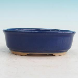 Ceramiczna miska bonsai H 04 - 10 x 7,5 x 3,5 cm, niebieski - 10 x 7,5 x 3,5 cm