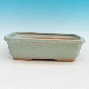 Ceramiczna miska bonsai H 07 - 30 x 21,5 x 8,5 cm, zielony - 30 x 21,5 x 8,5 cm