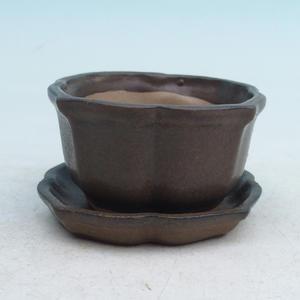 bonsai miska i zasobnik wody H95, brązowy