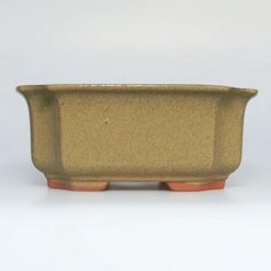 Ceramiczna miska bonsai H 01 - 12 x 9 x 5 cm, beżowy - 12 x 9 x 5 cm
