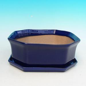 bonsai miska i zasobnik wody H14, niebieski