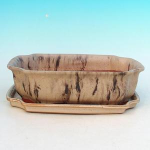 bonsai miska i zasobnik wody H03, beżowy