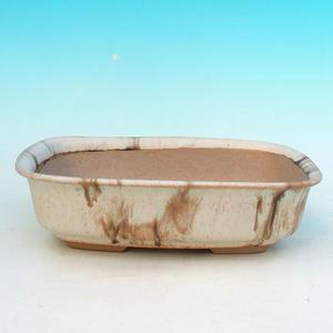 Bonsai ceramiczne miseczki H 02, beżowy