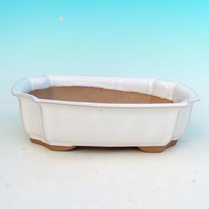 Bonsai ceramiczne miseczki H 03, biały
