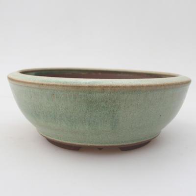 Ceramiczna miska bonsai 16 x 16 x 5,5 cm, kolor zielony - 1
