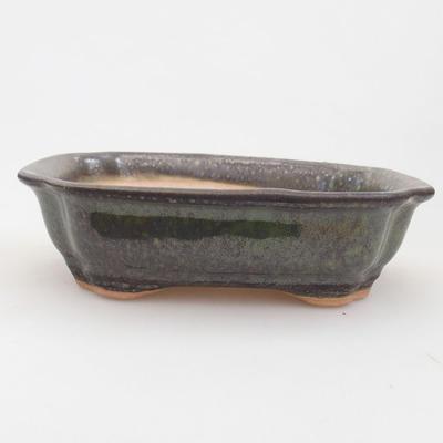 Ceramiczna miska bonsai 15,5 x 12 x 4,5 cm, kolor zielony - 1