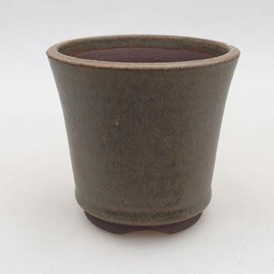 Ceramiczna miska bonsai 9,5 x 9,5 x 9 cm, kolor zielony - 1