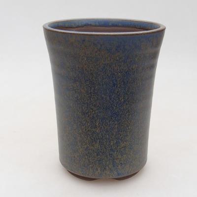 Ceramiczna miska bonsai 10 x 10 x 13,5 cm, kolor niebieski - 1