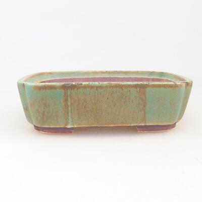 Ceramiczna miska bonsai 17,5 x 14,5 x 5 cm, kolor zielony - 1