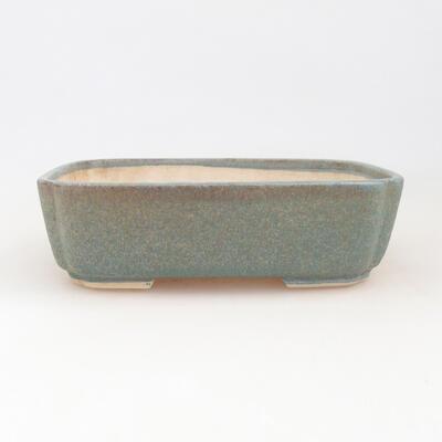 Ceramiczna miska bonsai 17,5 x 14,5 x 5 cm, kolor niebieski - 1