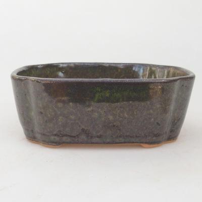 Ceramiczna miska bonsai 12,5 x 10 x 4,5 cm, kolor szaro-zielony - 1