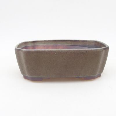 Ceramiczna miska bonsai 16,5 x 14 x 5,5 cm, kolor szary - 1