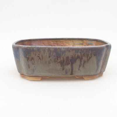 Ceramiczna miska bonsai 16,5 x 14 x 5,5 cm, kolor niebieski - 1