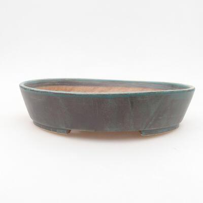 Ceramiczna miska bonsai 22,5 x 20 x 5 cm, kolor zielony - 1