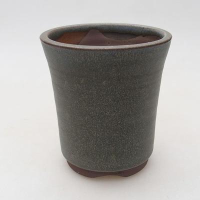 Ceramiczna miska bonsai 9 x 9 x 10,5 cm, kolor szary - 1