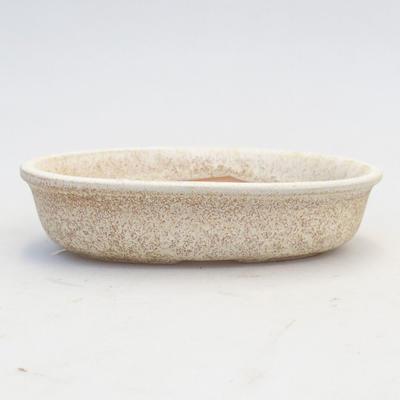 Ceramiczna miska bonsai 12 x 8 x 3,5 cm, kolor beżowy - 2. jakość - 1