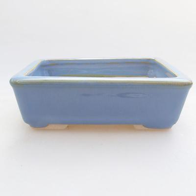 Ceramiczna miska bonsai 10,5 x 8,5 x 3 cm, kolor niebieski - 1