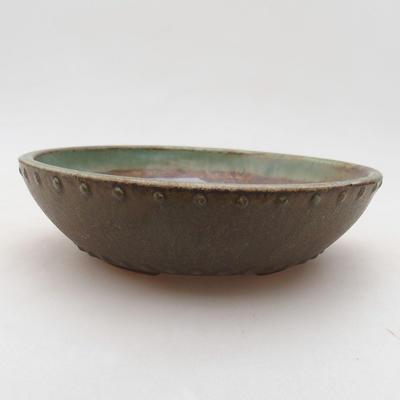 Ceramiczna miska bonsai 17 x 17 x 4,5 cm, kolor zielony - 1